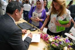 Part of signing of the book by the author
